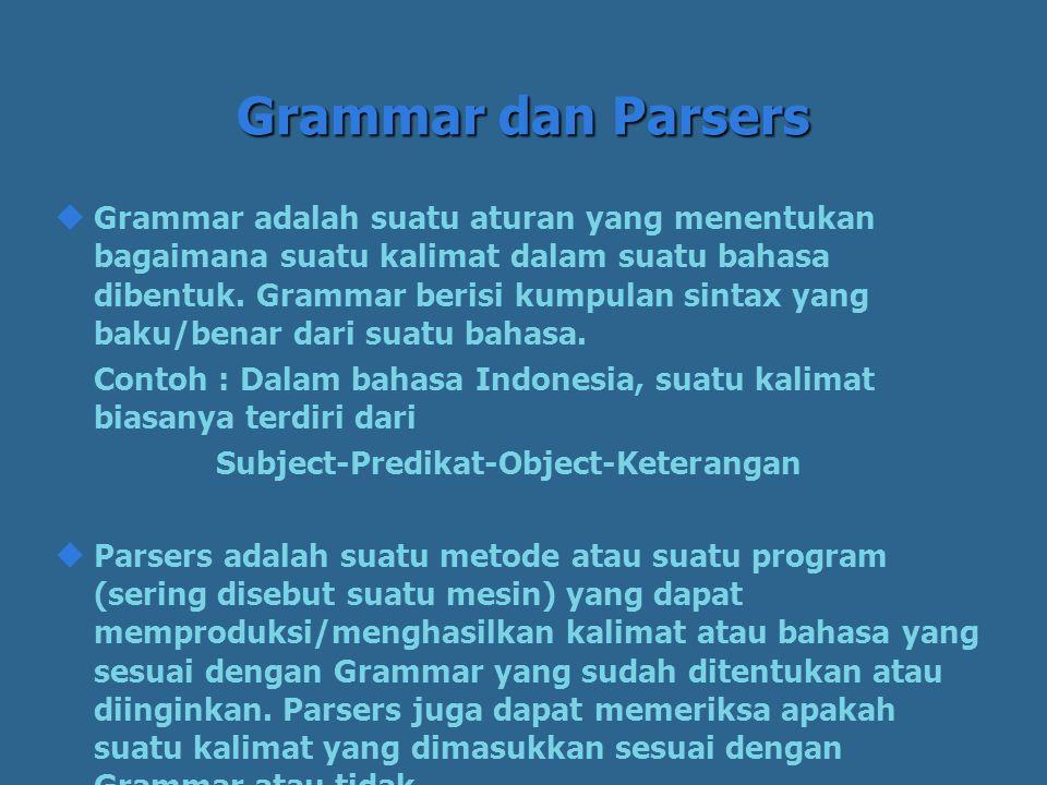 Grammar dan Parsers