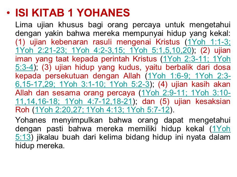ISI KITAB 1 YOHANES