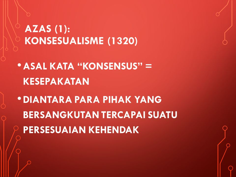 AZAS (1): KONSESUALISME (1320)