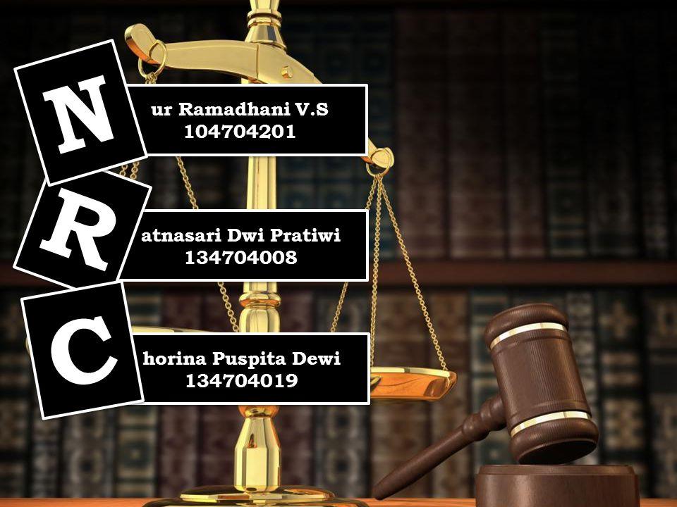 N R C ur Ramadhani V.S 104704201 atnasari Dwi Pratiwi 134704008