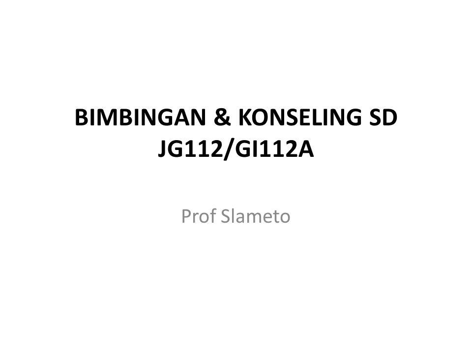 BIMBINGAN & KONSELING SD JG112/GI112A
