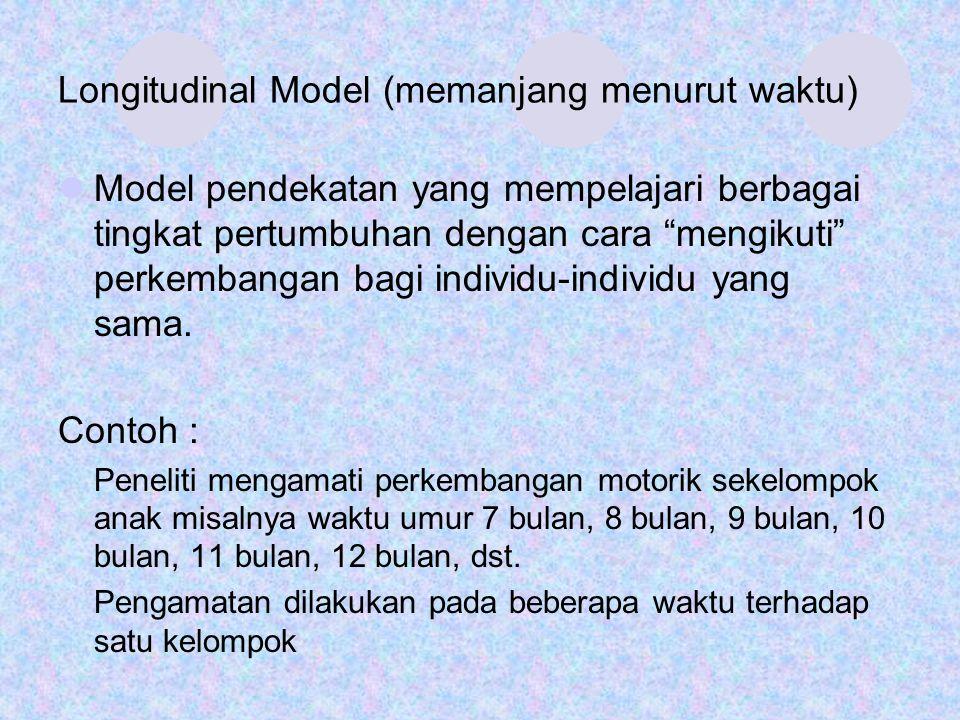 Longitudinal Model (memanjang menurut waktu)