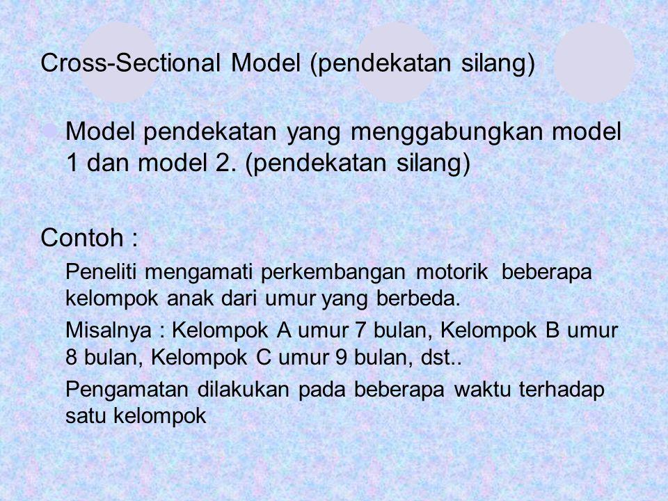 Cross-Sectional Model (pendekatan silang)