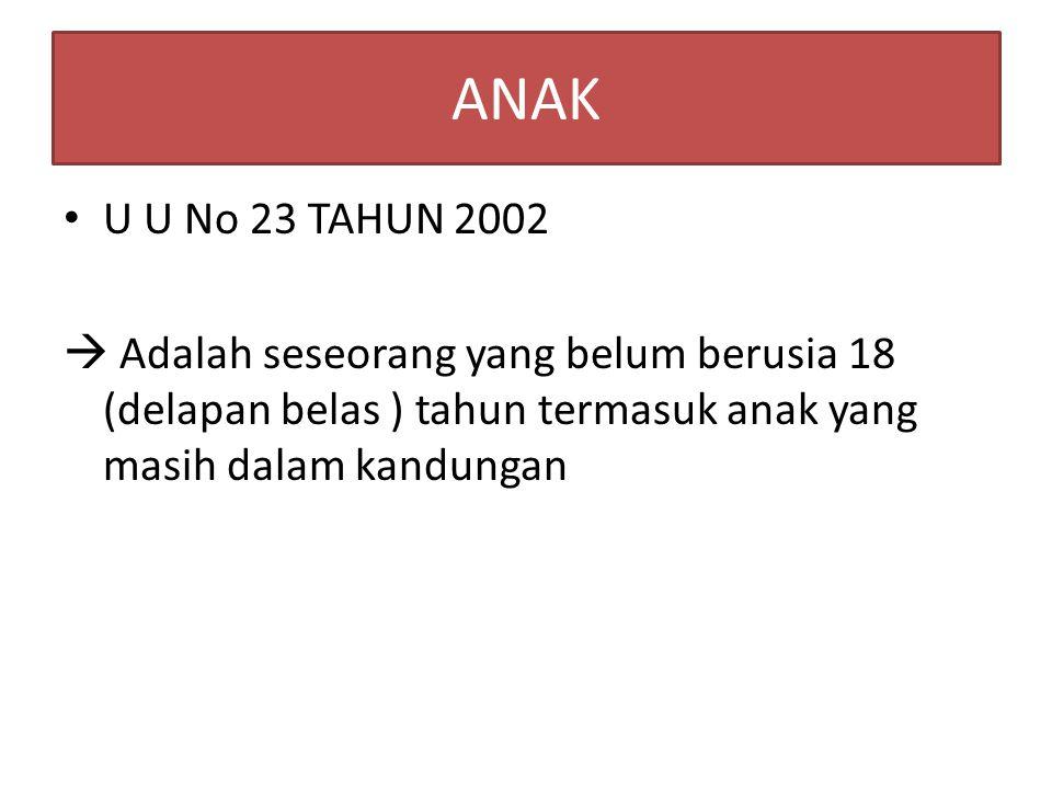 ANAK U U No 23 TAHUN 2002.