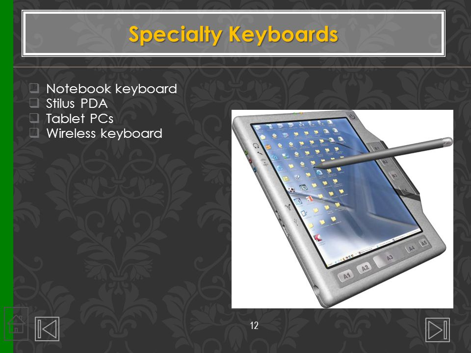 Specialty Keyboards Notebook keyboard Stilus PDA Tablet PCs