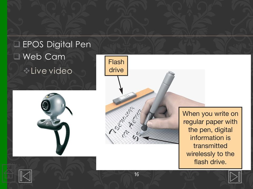 EPOS Digital Pen Web Cam Live video