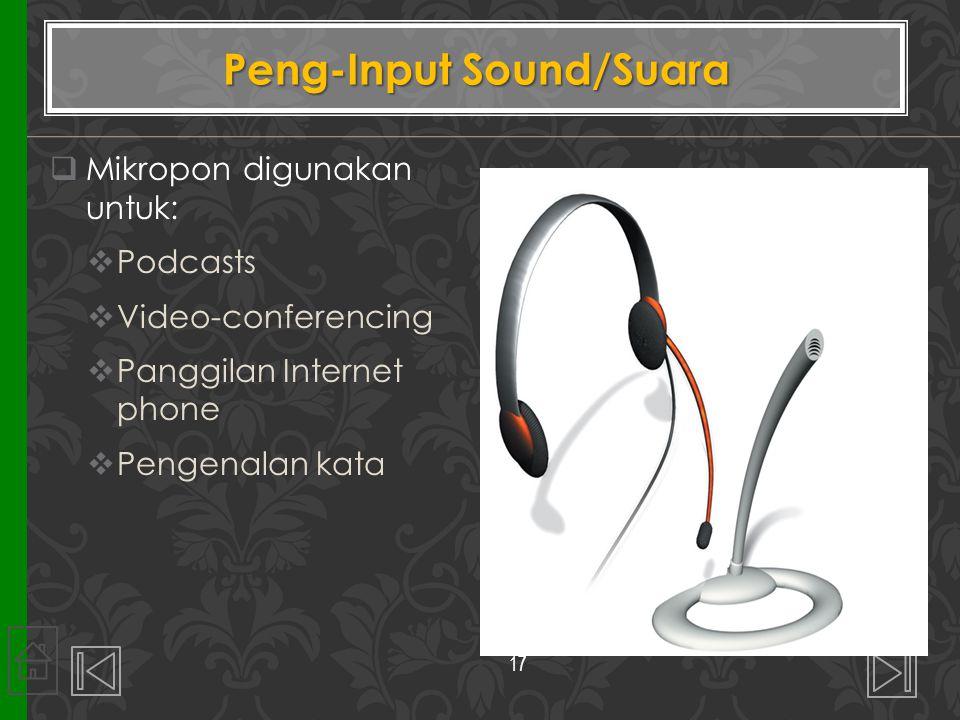 Peng-Input Sound/Suara