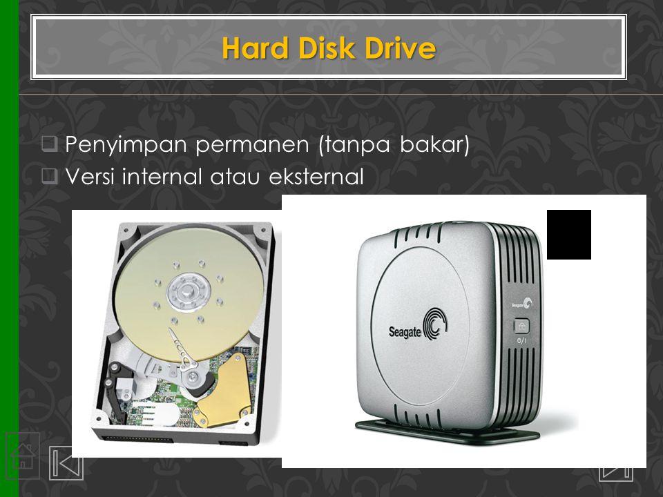 Hard Disk Drive Penyimpan permanen (tanpa bakar)