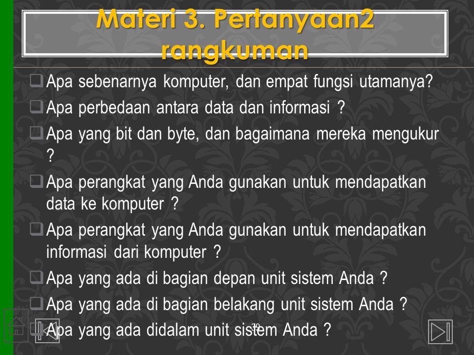 Materi 3. Pertanyaan2 rangkuman