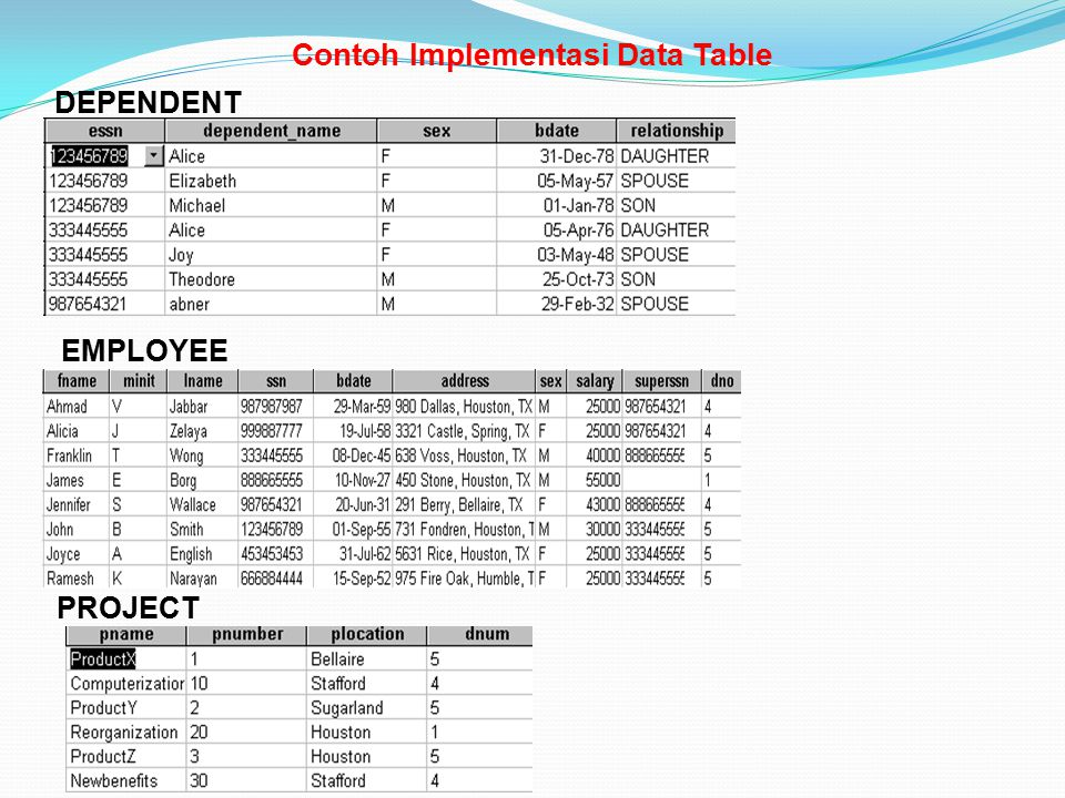 Contoh Implementasi Data Table