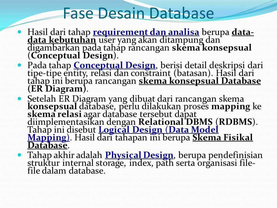 Fase Desain Database