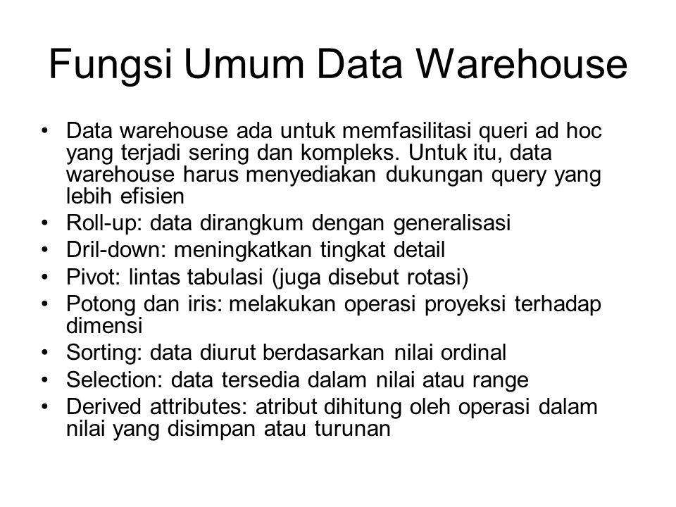 Fungsi Umum Data Warehouse