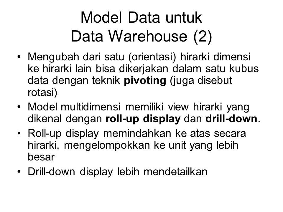 Model Data untuk Data Warehouse (2)