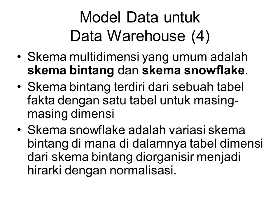 Model Data untuk Data Warehouse (4)