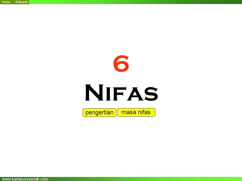 menu thaharah 6 Nifas pengertian masa nifas