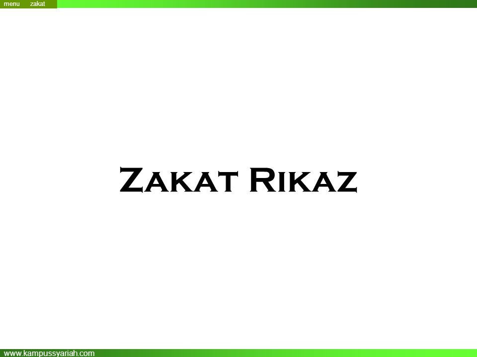 menu zakat Zakat Rikaz