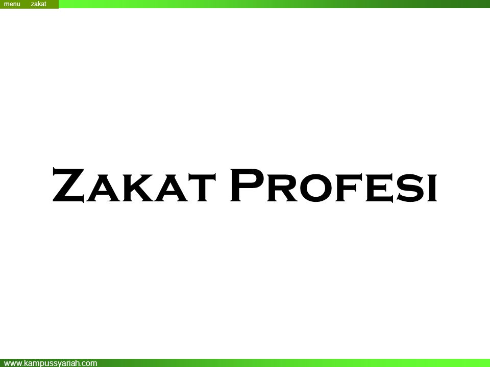 menu menu zakat Zakat Profesi