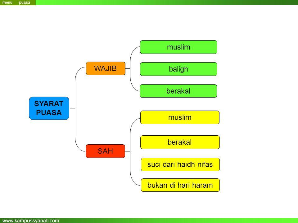 muslim WAJIB baligh berakal SYARAT PUASA muslim berakal SAH