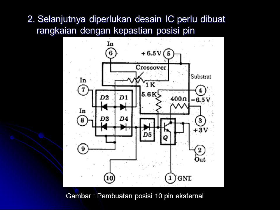 2. Selanjutnya diperlukan desain IC perlu dibuat rangkaian dengan kepastian posisi pin