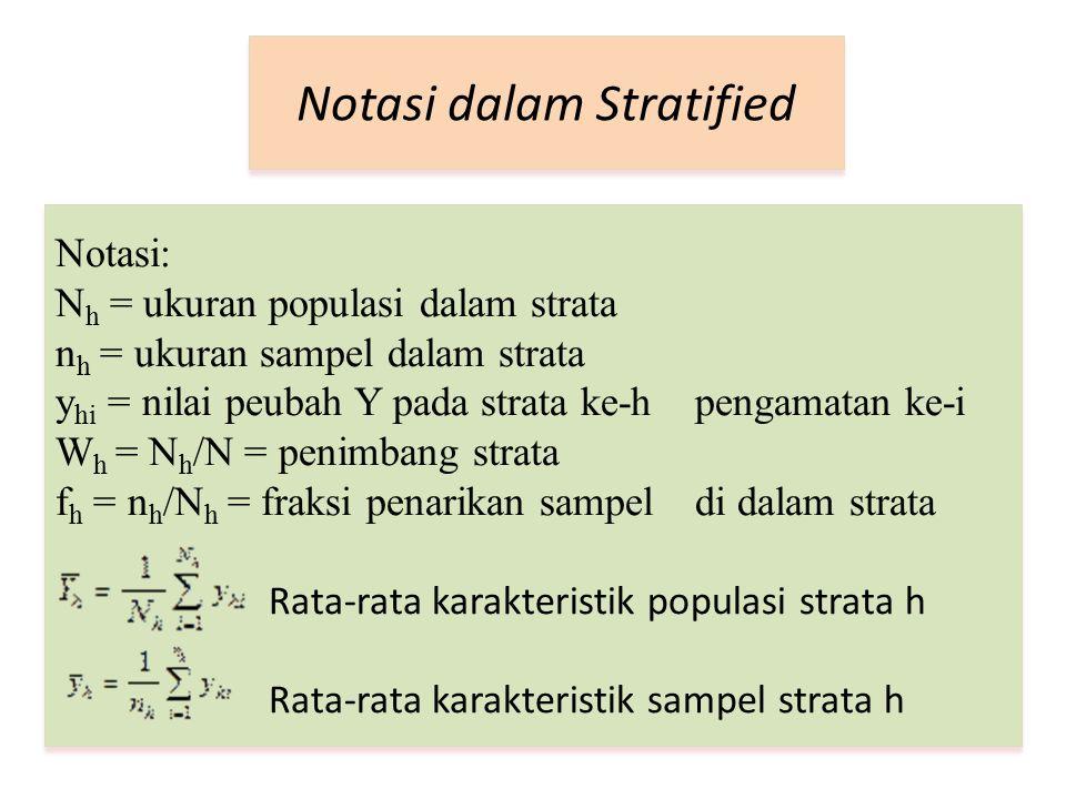 Notasi dalam Stratified
