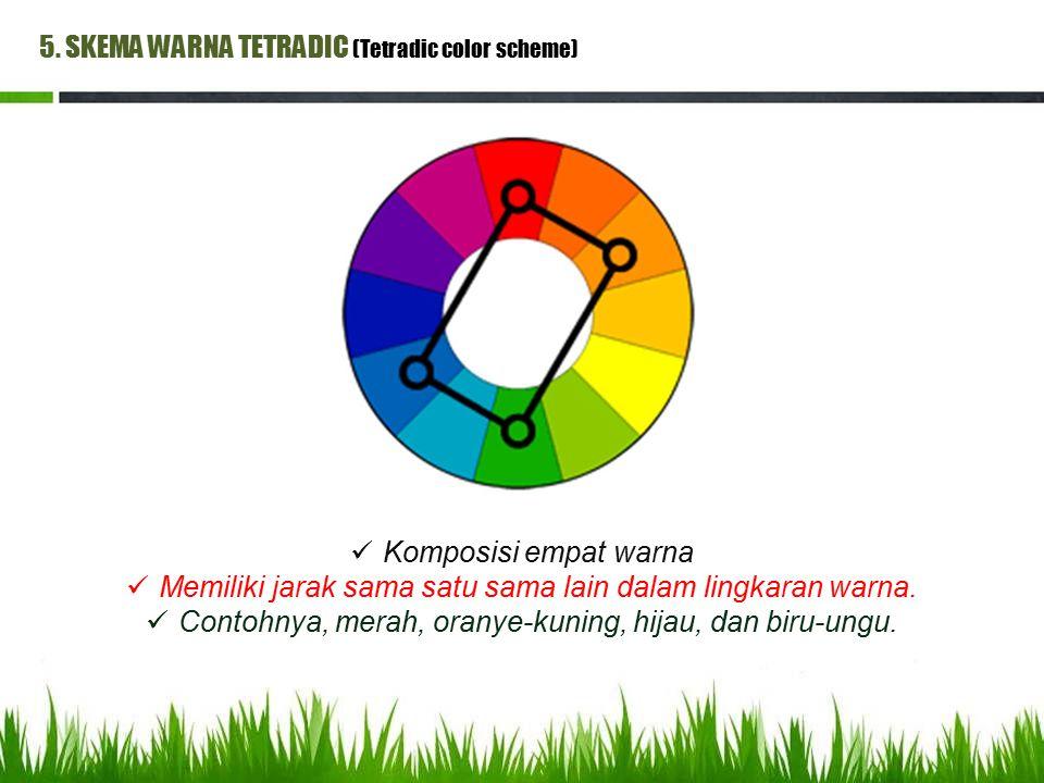 5. SKEMA WARNA TETRADIC (Tetradic color scheme)