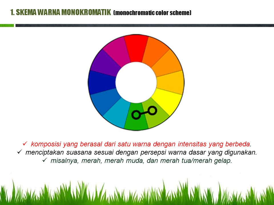 1. SKEMA WARNA MONOKROMATIK (monochromatic color scheme)