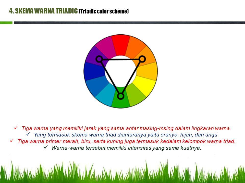 Warna-warna tersebut memiliki intensitas yang sama kuatnya.
