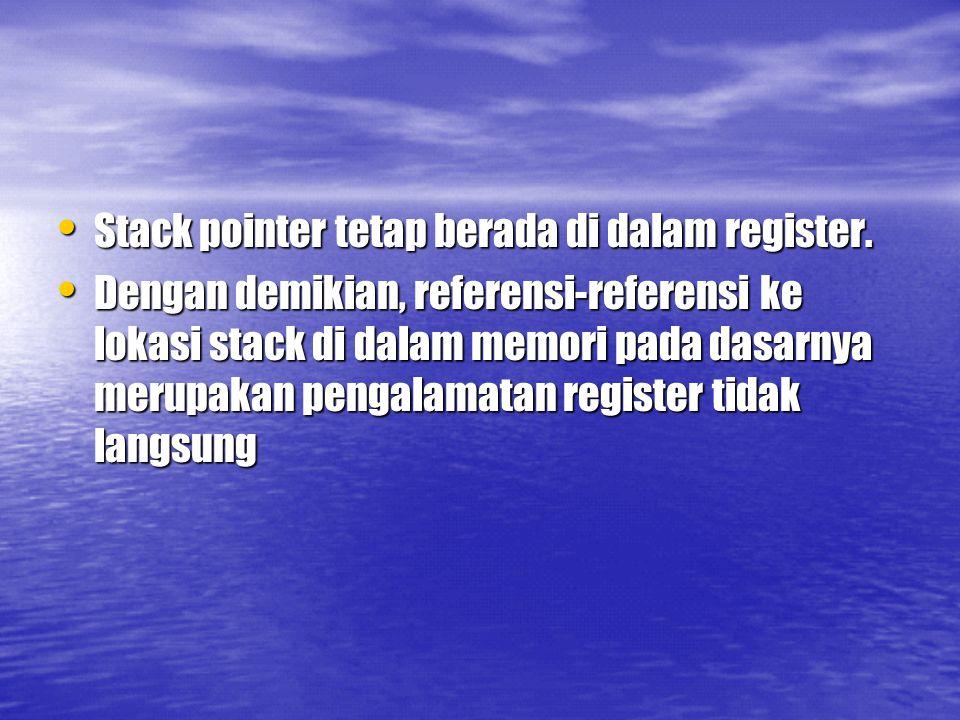 Stack pointer tetap berada di dalam register.