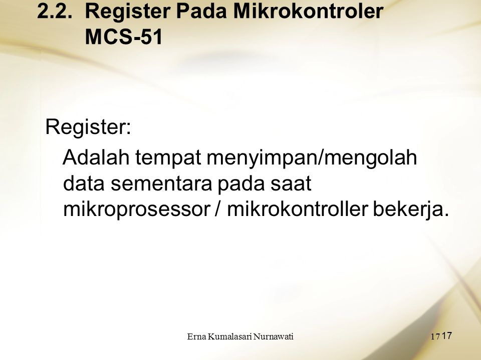 2.2. Register Pada Mikrokontroler MCS-51