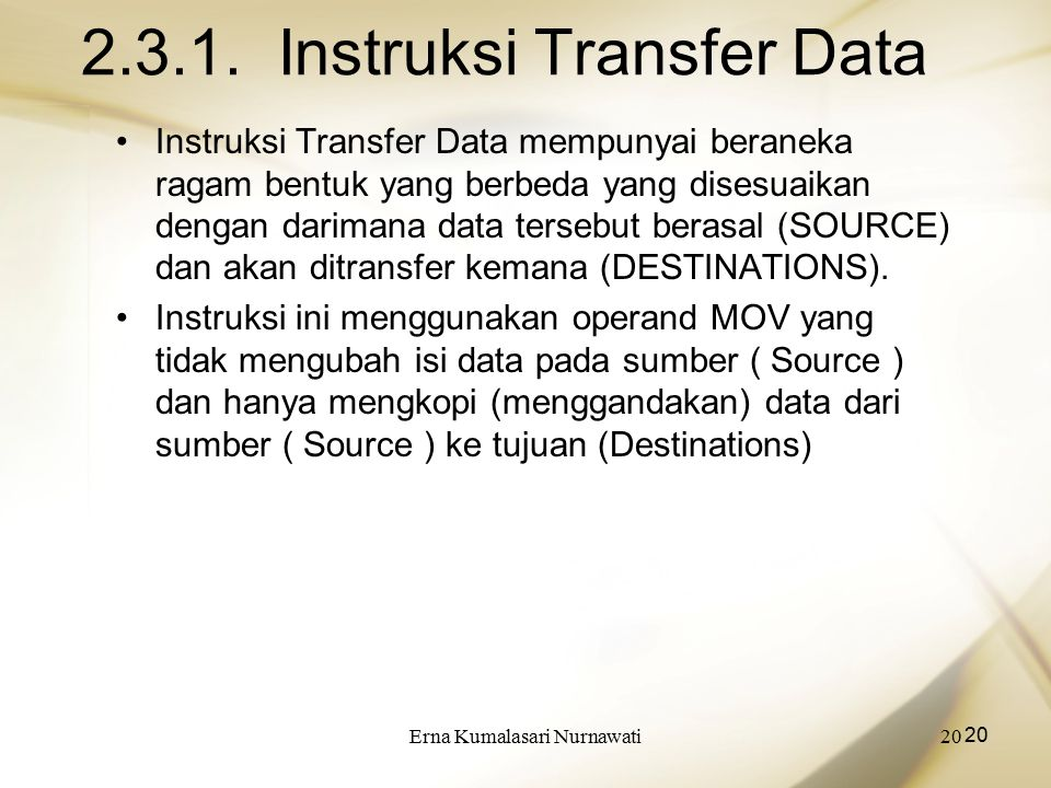2.3.1. Instruksi Transfer Data