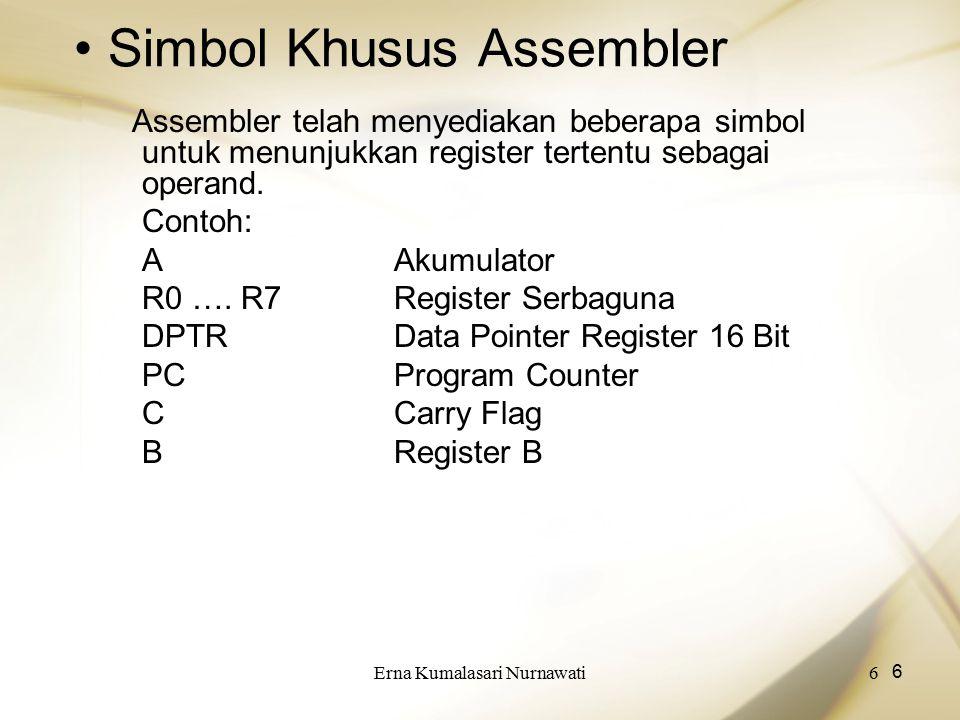 Simbol Khusus Assembler