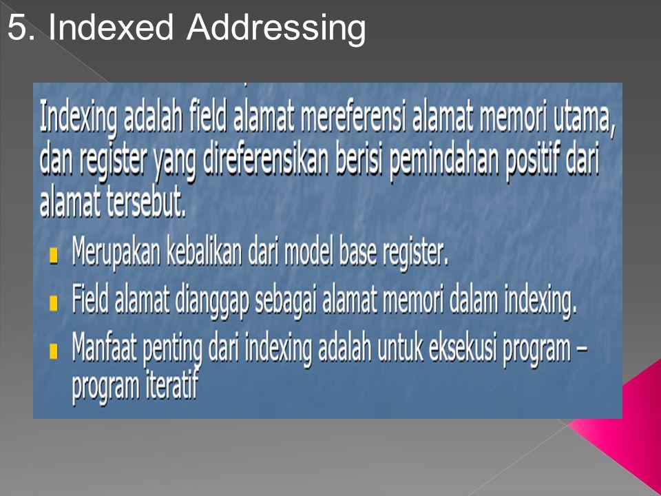 5. Indexed Addressing