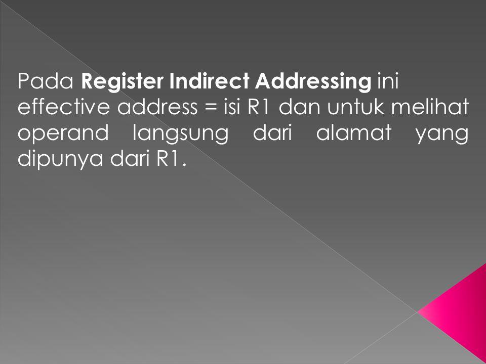 Pada Register Indirect Addressing ini
