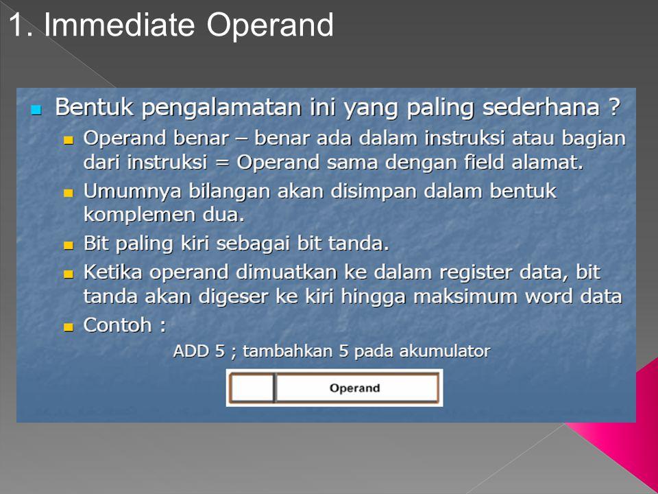 1. Immediate Operand