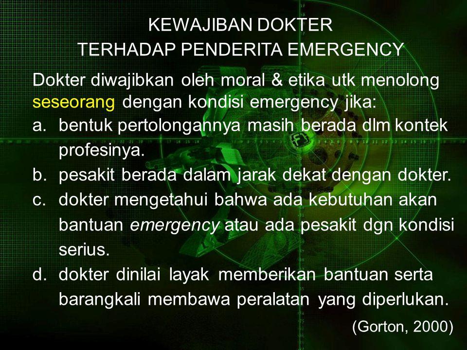 TERHADAP PENDERITA EMERGENCY