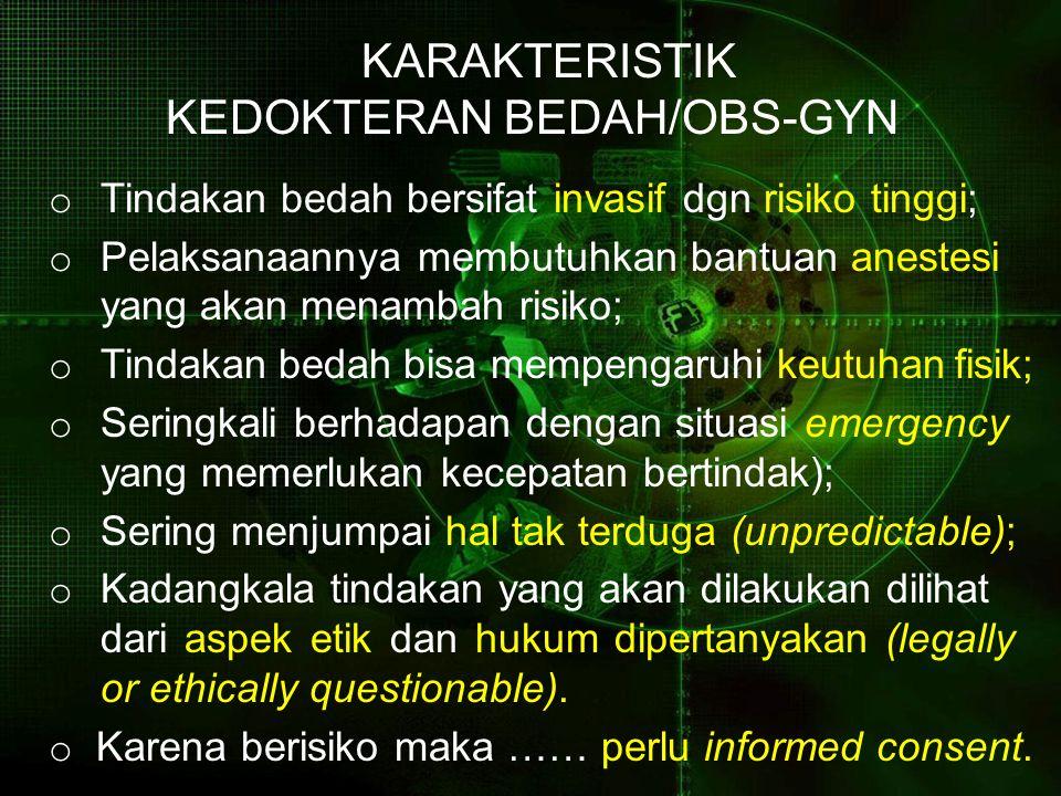 KARAKTERISTIK KEDOKTERAN BEDAH/OBS-GYN
