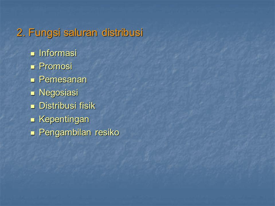 2. Fungsi saluran distribusi
