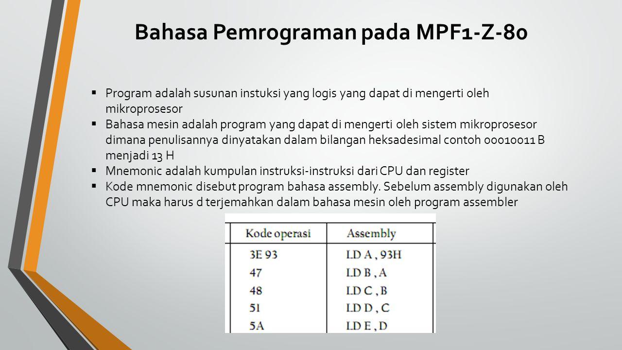 Bahasa Pemrograman pada MPF1-Z-80
