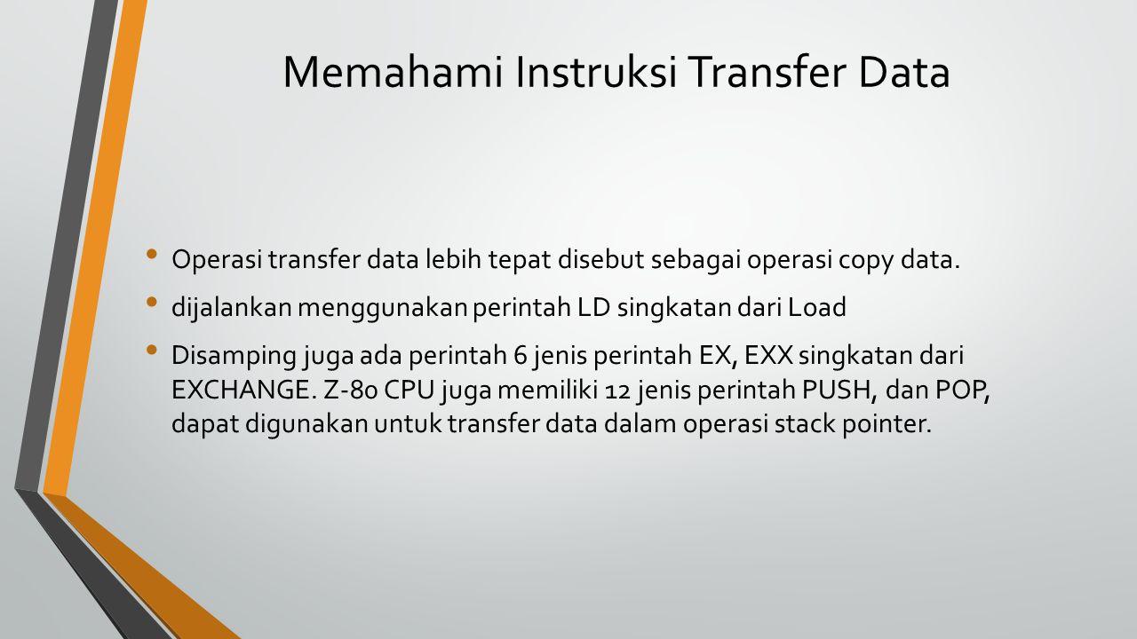 Memahami Instruksi Transfer Data