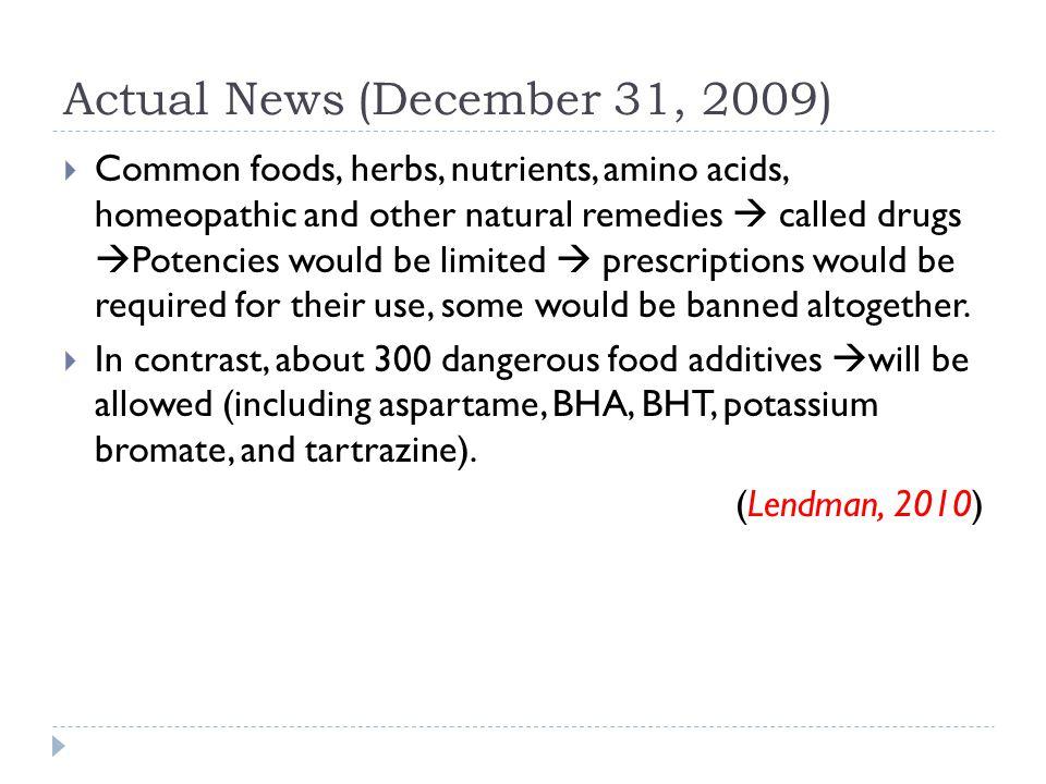 Actual News (December 31, 2009)