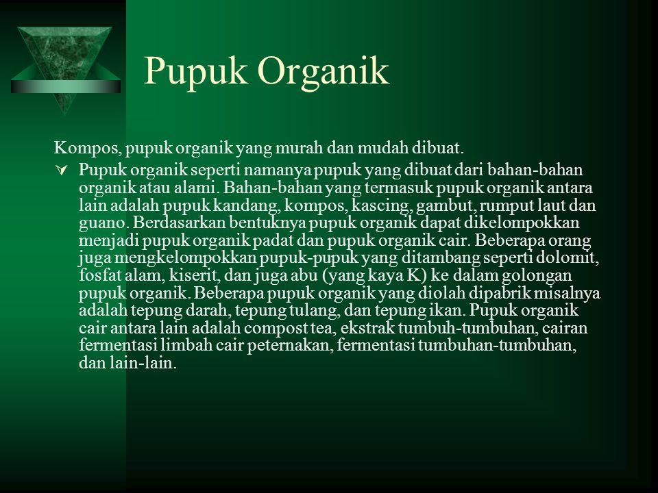 Pupuk Organik Kompos, pupuk organik yang murah dan mudah dibuat.