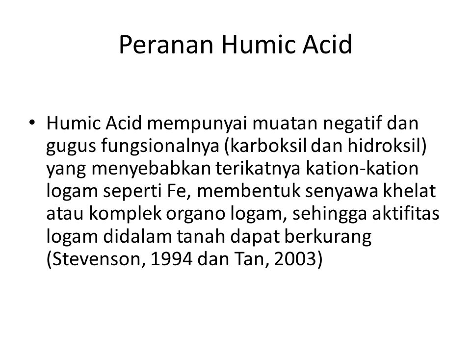 Peranan Humic Acid