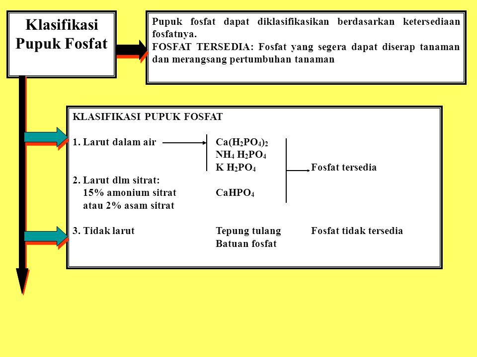 Klasifikasi Pupuk Fosfat