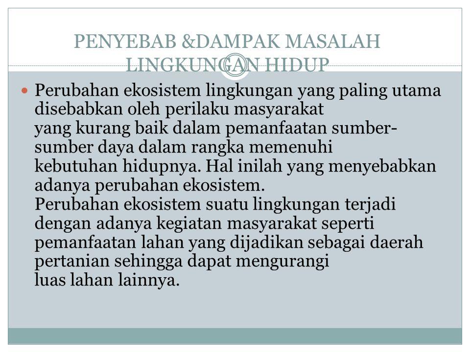 PENYEBAB &DAMPAK MASALAH LINGKUNGAN HIDUP