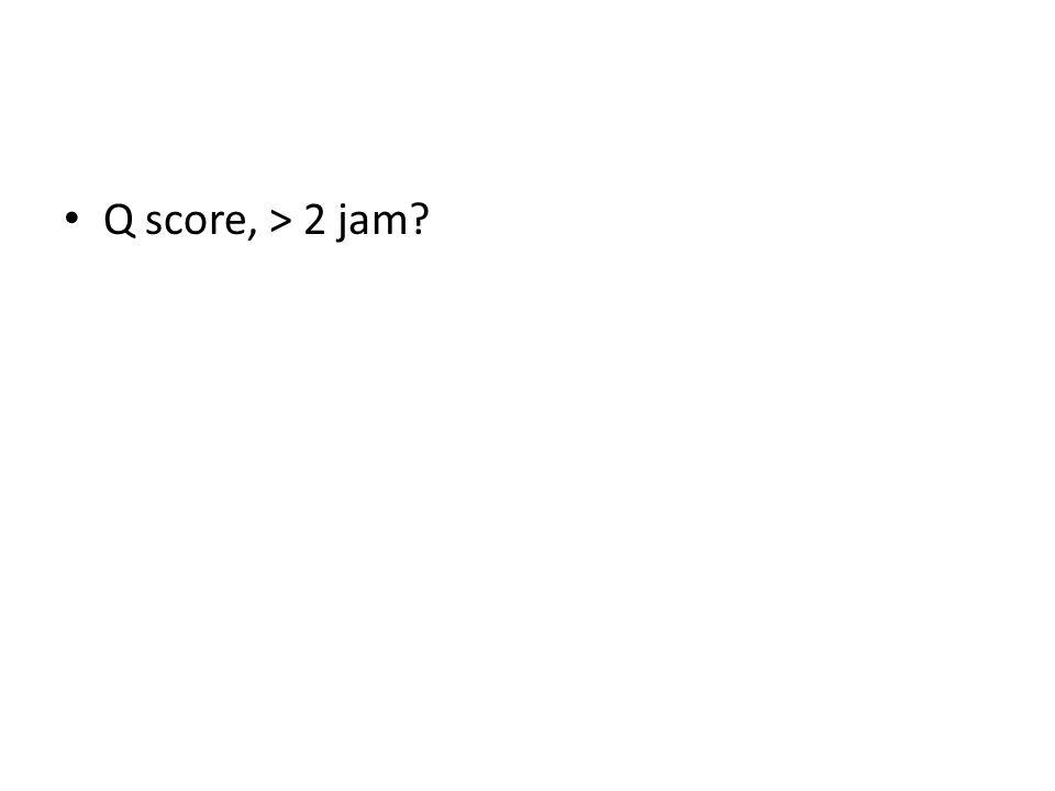 Q score, > 2 jam