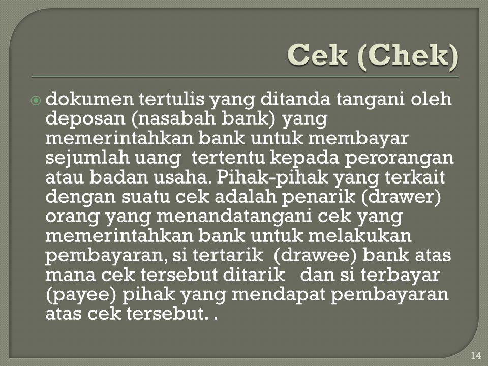 Cek (Chek)