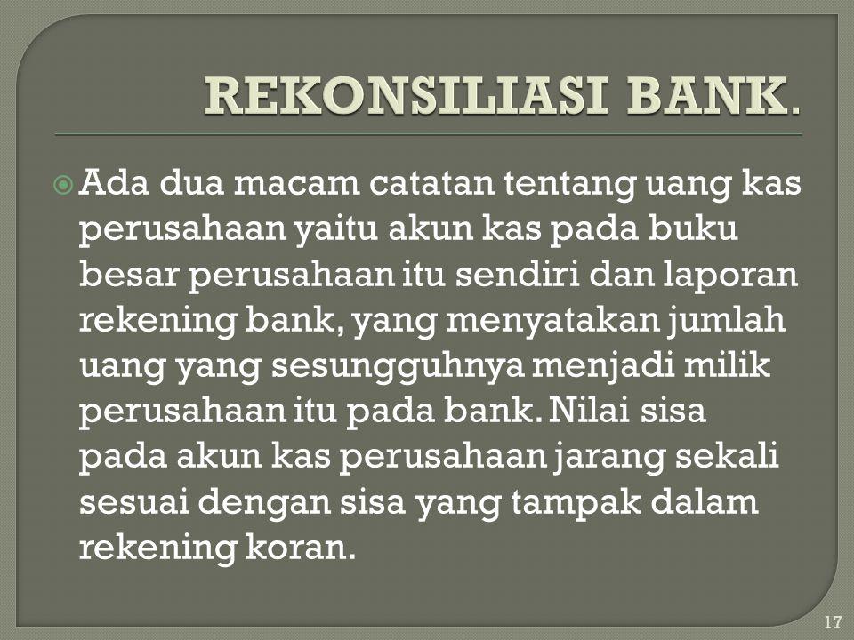 REKONSILIASI BANK.