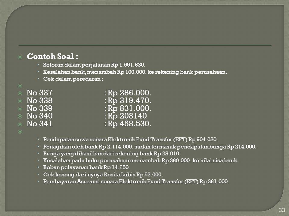 Contoh Soal : No 337 : Rp 286.000. No 338 : Rp 319.470.