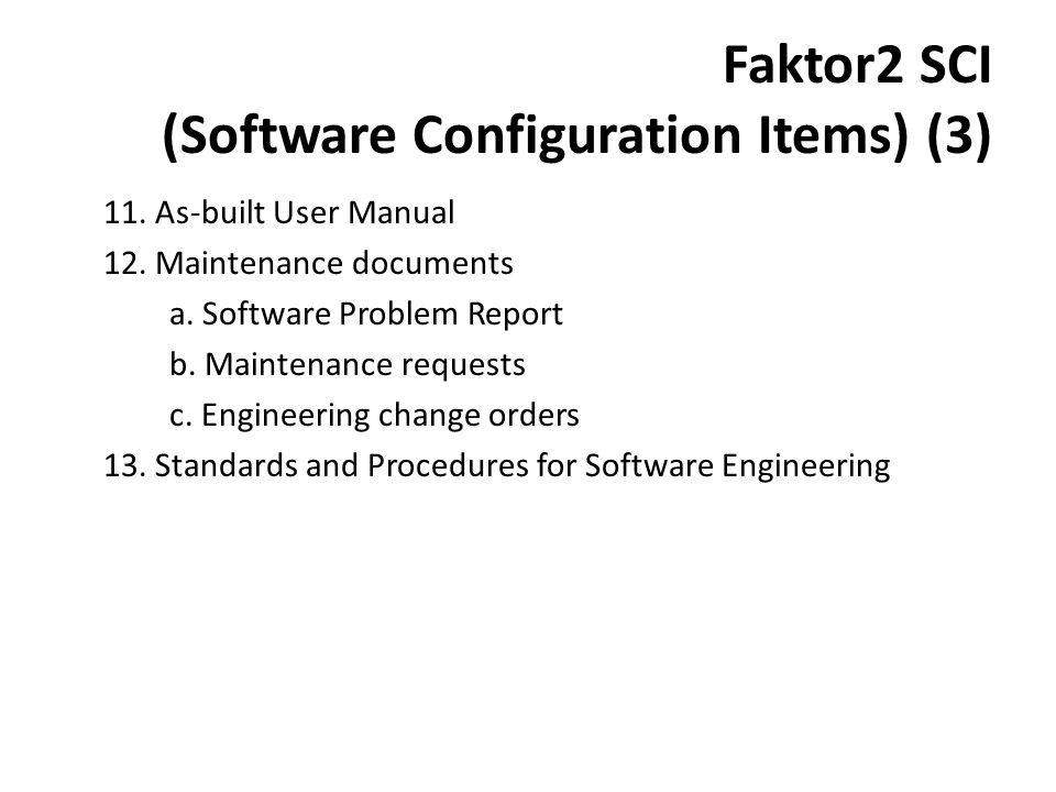 Faktor2 SCI (Software Configuration Items) (3)