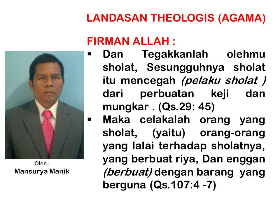 LANDASAN THEOLOGIS (AGAMA)
